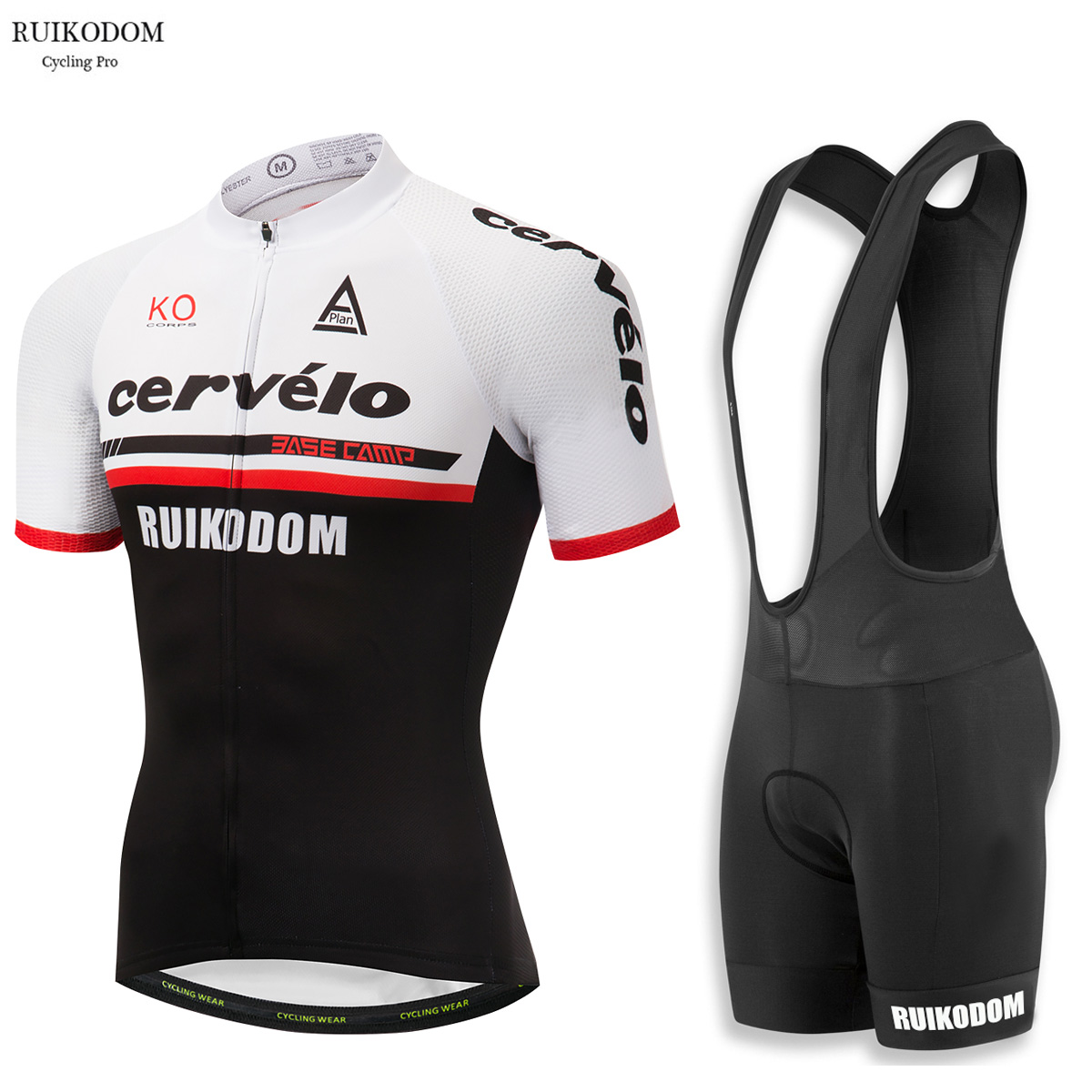 RUIKODOM Summer Men's Short Sleeve Cycling Jersey Set with Bib Ropa De Ciclismo Maillot Ciclismo Quick Dry Pro Team Bike Clothes polyester summer breathable cycling jerseys pro team italia short sleeve bike clothing mtb ropa ciclismo bicycle maillot gel pad