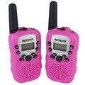 Best Pink Walkie Talkie Retevis T-388 UHF 462.5625-467.7250MHz 0.5W 22CH For Kid LCD Display Flashlight VOX Toy A7027E