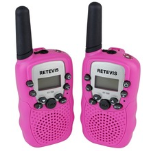 Pink Walkie Talkie Retevis T-388 UHF 462.5625-467.7250MHz 0.5W 22CH For Kid Children LCD Display Flashlight VOX CB Radio A7027E