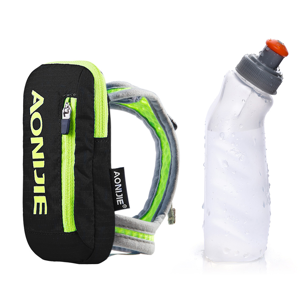AONIJIE Handheld Bag Hydration Pack Mobile Phone Pocket Case Running Hand Bag With 250ml Water Bottle Cycling Marathon Hiking