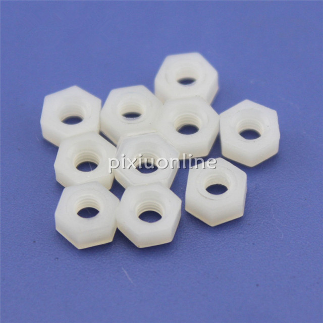 2017 Brand New J102b M3 Nylon Nut Plastic Stainless Anti-static Insulation for DIY model Make Sell at a Loss Very Cheap