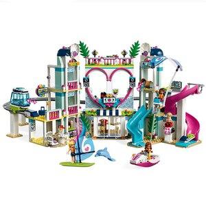 Image 2 - Amis série glace château ensemble éducatif bloc de construction briques ensemble jouets pour filles Compatible Lepining filles cadeau
