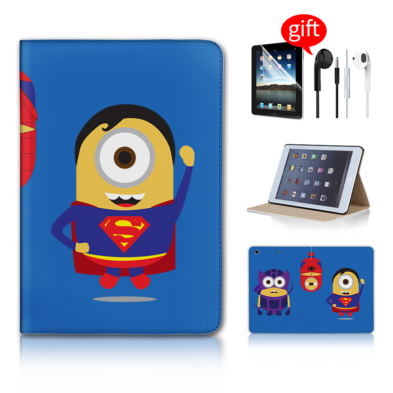 все цены на  Minion Spiderman Superhero Smart Flip Stand Cover Case For Apple ipad Mini Retina Case Wake Up/Sleep Mode For ipad Mini 2 Retina  онлайн