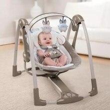 Роскошное детское кресло-качалка колыбель-качели, музыкальное Электрическое Кресло-Качалка, кресло-кресло, чтобы загладить новорожденного