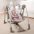 Lujo gorila bebé cuna mecedora cuna mecedora música eléctrica reclinable silla para apaciguar a los recién nacidos