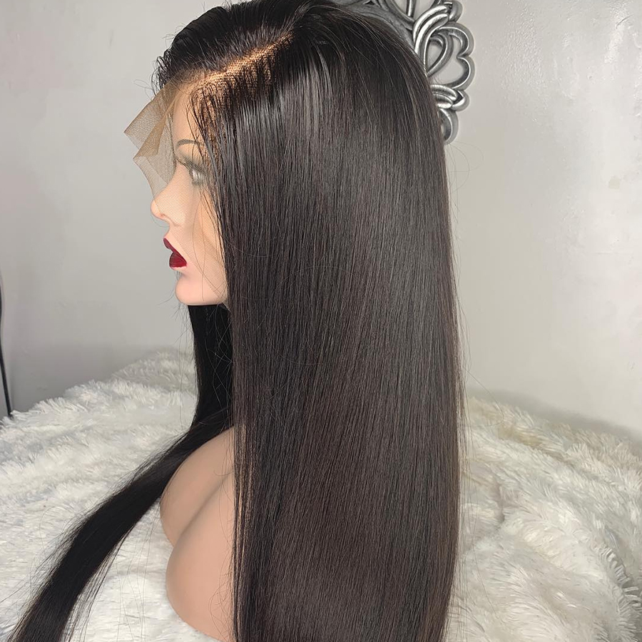 Image 4 - Rosabeauty 30 32 inch Long glueless 13x6 Lace Front Human Hair Wigs pre plucked Brazilian Straight Frontal Wig For Black Women-in Human Hair Lace Wigs from Hair Extensions & Wigs
