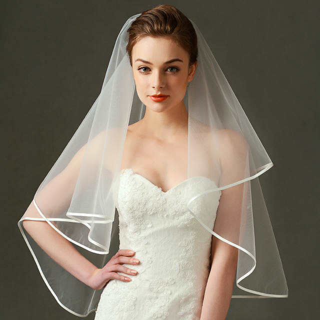 Us 7 0 Veil Korea Style Wedding Bridal Veil Movie Star Same Design Ivory Simple To Waist Length Bride Veil In Bridal Veils From Weddings Events On