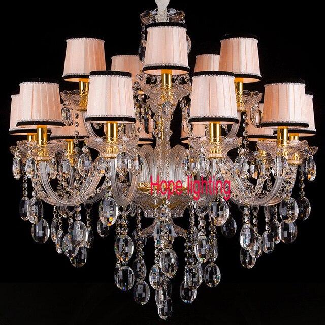 Paralume in tessuto lampadario di cristallo soggiorno led lampadari ...