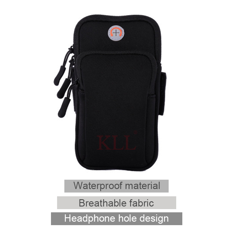 Universal 6'' Waterproof Sport Armband Bag Running Jogging Gym Arm Band Mobile Phone Bag Case Cover Holder for iPhone Samsung 1