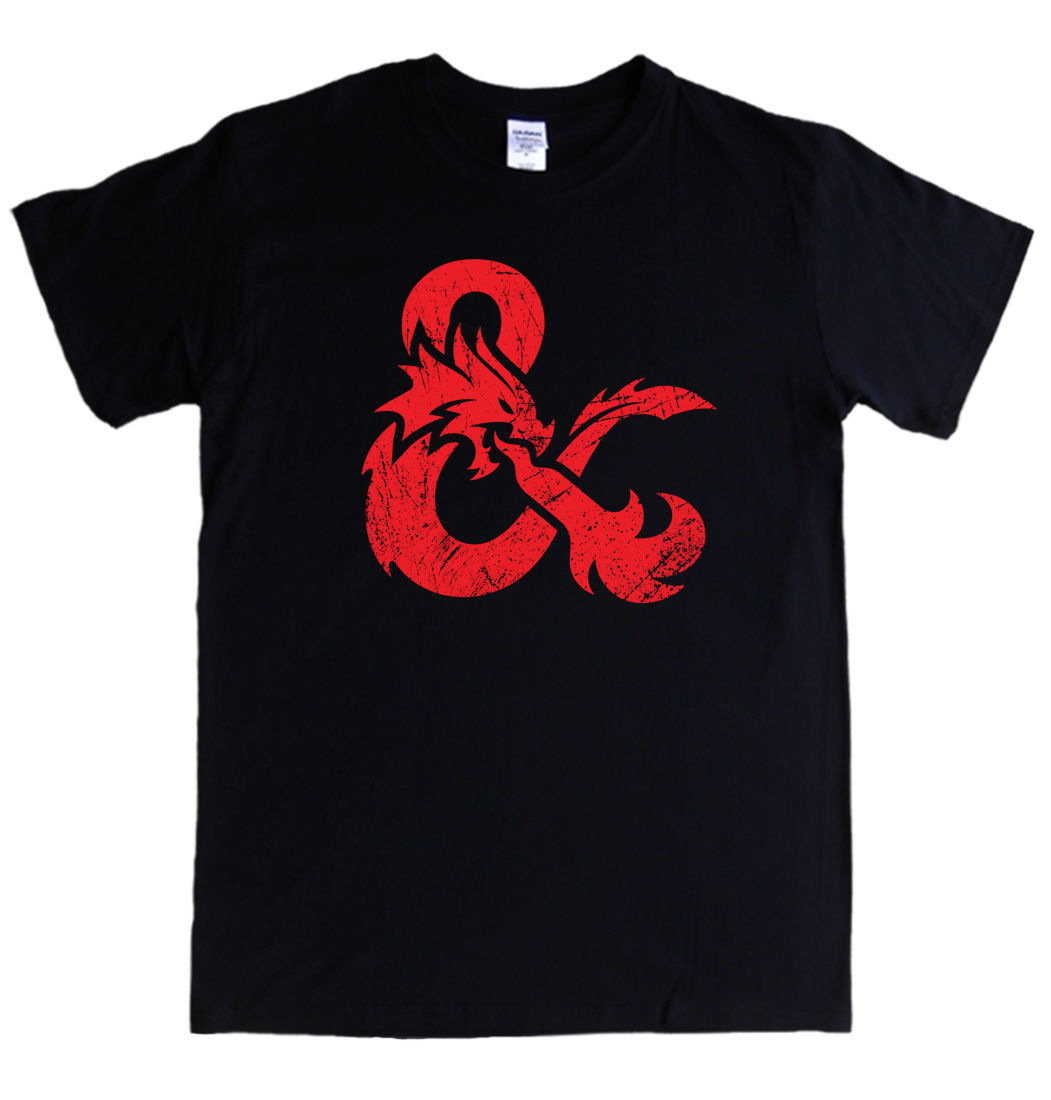 DUNGEONS & DRAGONS LOGO T-shirt S - 5XL rpg role playing print MENS LADIES KIDS ...