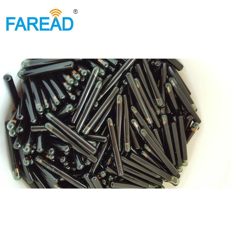 X40pcs 125KHz Chip RFID Bioglass Microchip Transponder  4*22mm/3.85*22.5mm TI HDX For Identification