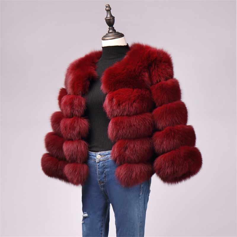 BINYUXD nuevo abrigo de piel sintética de zorro de fábrica de piel de imitación de invierno para mujer abrigo de piel artificial chaqueta de abrigo