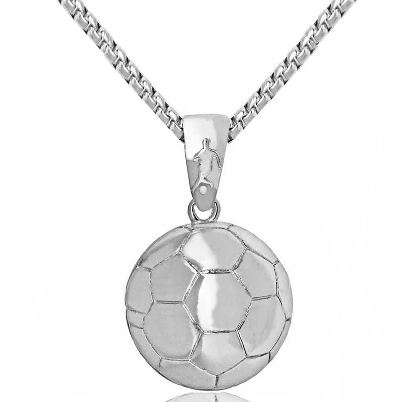 Sporty fodbold vedhæng Fodbold halskæde til mænd Personlighed - Mode smykker