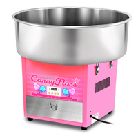 Electric Commercial Cotton Candy Machine / Candy Floss Maker Pink with Stainless Steel Removable Bowl and Sugar Scoop