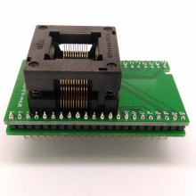 цена на TQFP44 FQFP44 QFP44 to DIP44 Double-Board Programming Socket OTQ-44-0.8-14 Pitch 0.8mm IC Body Size 10x10mm Test Adapter
