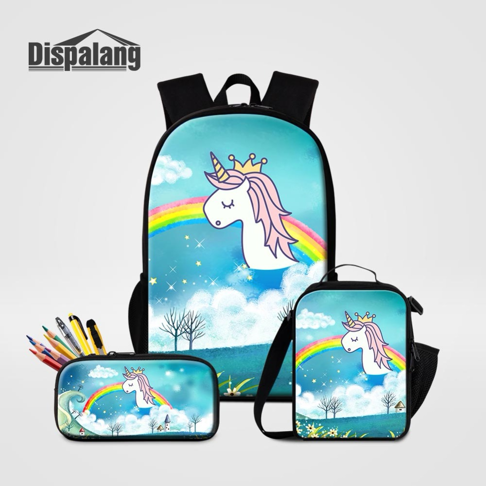Unicorn Backpack With Pencil Case Girls School Bag And Pencilcase Set