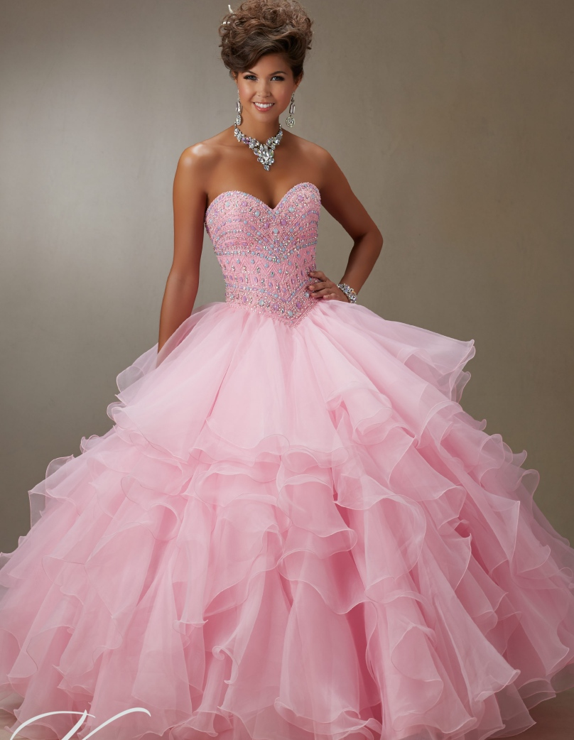 Popular Pink White Quinceanera Dresses-Buy Cheap Pink White ...