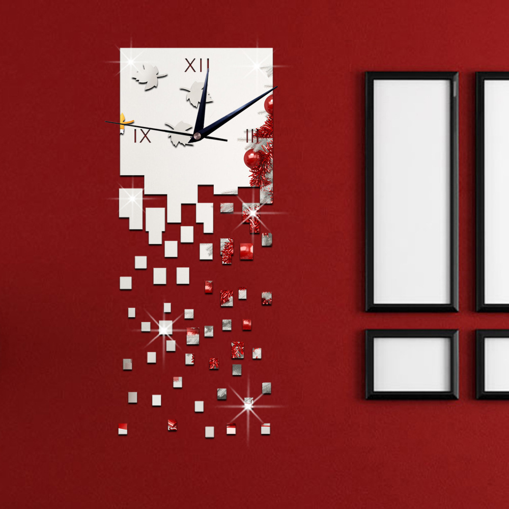 wall art office. Art Office Wall Decoration Time Flies Square Watch Relogio Digital Reloj Mural DIY Home Decor Fragmentation Time-in Clocks From \u0026 Garden On