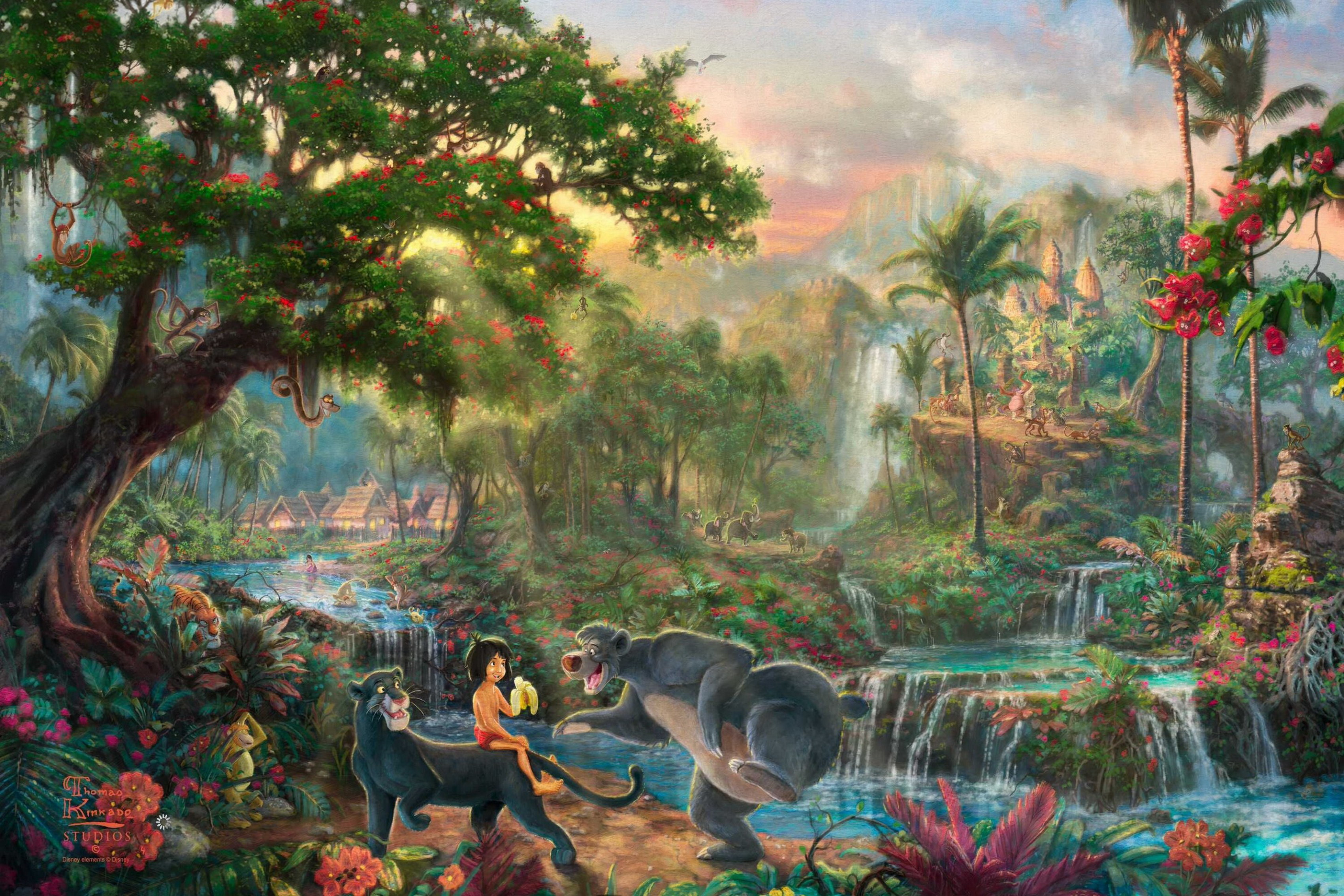 Home decoration The Jungle Book art cartoon movie Silk Fabric Poster Print AT114
