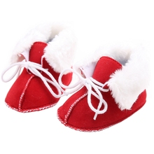 Baby Girls Winter Snow Boots Newborn Infant Toddler Boys Fleece Warm Shoes Lace Up Soft Sole Gifts for Babies Short Booties