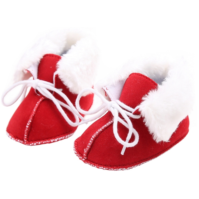 3e742bb3b Baby Girls Winter Snow Boots Newborn Infant Toddler Boys Fleece Warm Shoes  Lace Up Soft Sole Gifts for Babies Short Booties
