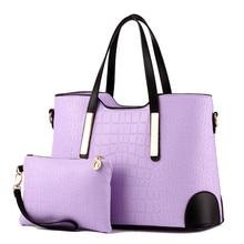 Women Bag Crocodile Pattern Vintage Shoulder Wallet Leather Handbags