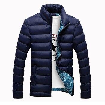 Parka Men 2019 New Brand Clothing Winter Hot Sale Solid Cotton Jackets Men Casual Windbreak Fashion Mens Jackets And Coats 6XL
