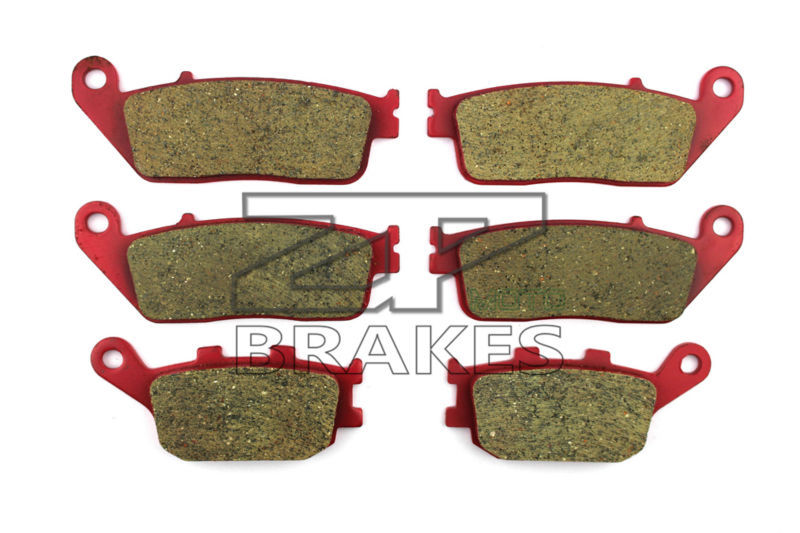 Motorcycle Brake Pads For HONDA CB 600 FW/FX Hornet 1998-1999 Front + Rear OEM New Carbon Ceramic Composite High Quality ZPMOTO 1999 2000 arctic cat 250 2x4 kevlar carbon front brake pads