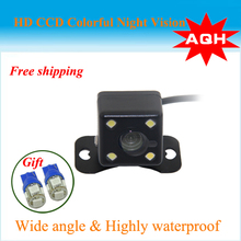 Parking Assistance System Universal HD CCD 4 LED Night Vision Car Rear View Came