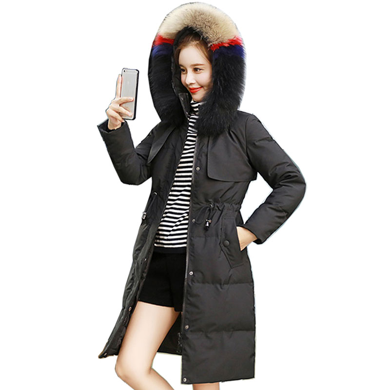 2018 winter jacket women warm White Duck Down coat womens winter jackets and coats parkas for women winter fur coat down jacket
