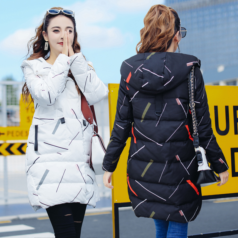 Maternity winter outerwear wadded jacket medium-long loose fashion thickening cotton-padded jacket maternity cotton-padded winter thickening women parkas women s wadded jacket outerwear fashion cotton padded jacket medium long loose casual parka c1142