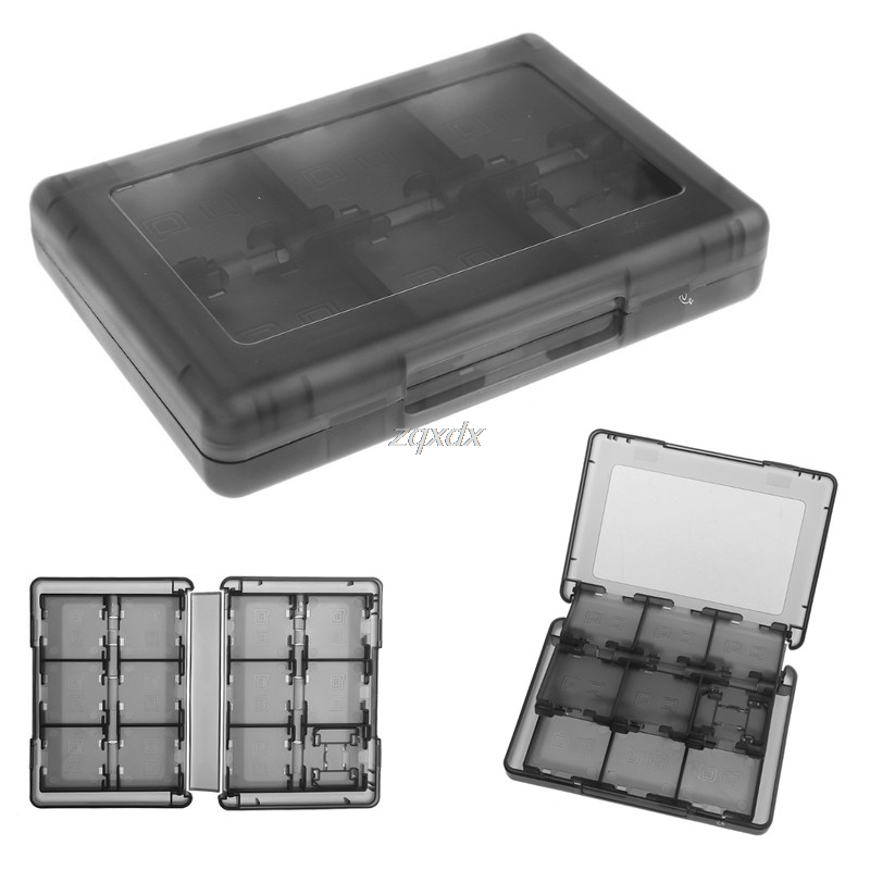 28-In-1 Black Game Card Case Holder Cartridge Storage Box For Nintendo DS 3DS Z17 Drop Ship