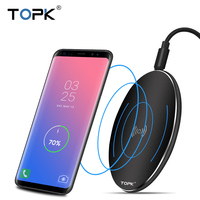 TOPK 10W Wireless Charger For IPhone 8 X Fast Wireless Charging For Samsung S8 S8 S7