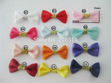 FZNNSL Cute bows for kids clothes ornament 100pcs satin ribbon Bowtie  multicolors DIY handmade decorative bowknots