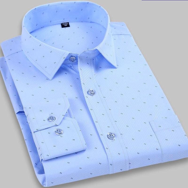 100% Baumwolle Mode Hohe Qualität Herbst Komfortable Kleid Shirts Kleidung Plaid Casual Mann Lange Ärmeln Plus Größe M-6xl7xl8xl9xl