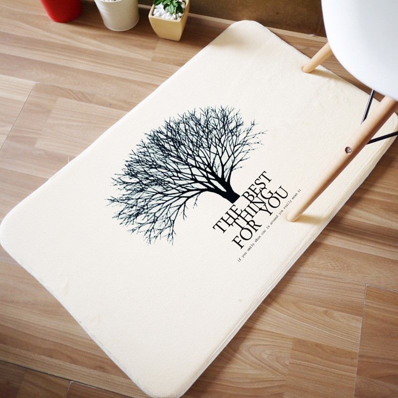 New Plant Tree Pattern 40x60cm Carpets For Living Room Bedroom Rectangle Rugs Coral Velvet Kid Mats Doormat Fashion Decoration