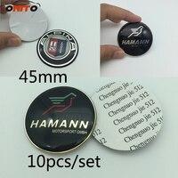 10 stks stuurwiel Logo Emblemen Decoratie Sticker Auto-accessoires Auto Styling voor ALPINA 45mm Epoxy Stickers carbon black