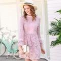 Женщина Розовый Кружева Club Dress