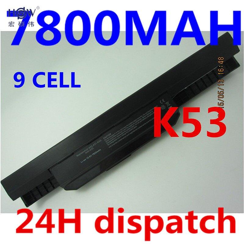 где купить HSW 7800mAh Battery For Asus X54H X53U X53S X53SV X84 X54 X43 A43 A53 K43 K53U K53T K53SV K53S K53E k53J A53S A42-K53 A32-K53 дешево