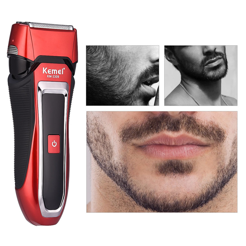 Kemei 3 Blade Head Floating Washable Electric Shaver Razor For Men Fast Rechargeable Reciprocating Beard Trimmer Shaving MachineKemei 3 Blade Head Floating Washable Electric Shaver Razor For Men Fast Rechargeable Reciprocating Beard Trimmer Shaving Machine