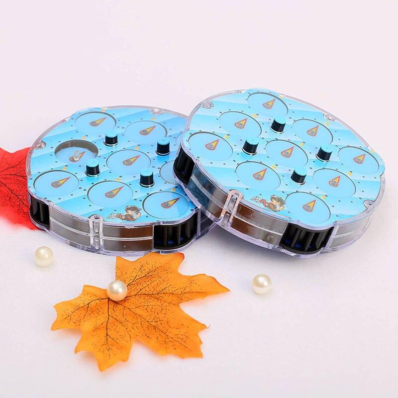 2017 New Magic Wilscoil Transparent Blue Cubo Magico Clock ABS Profissional Magic Clock Intelligence Gear Cube Toys 11*5.5*3.5c