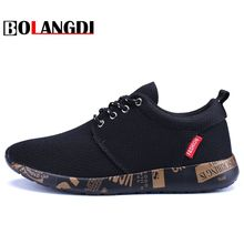 BOLANGDI New Breathable Men Sneaker Spring Running Shoes Outdoor Men's Sport Shoes Comfortable Printing Soles Brand Running Shoe