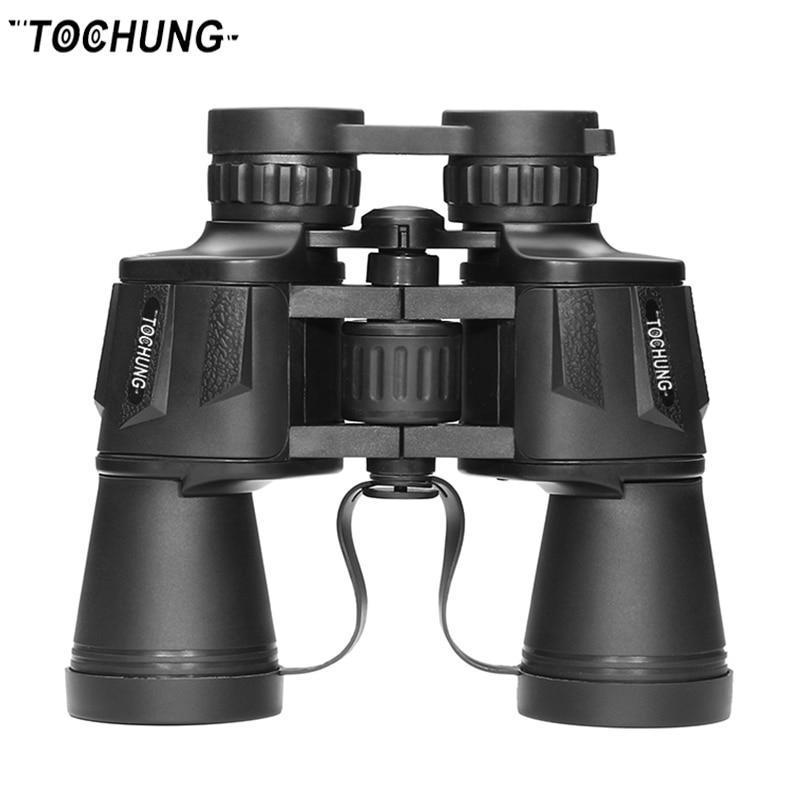 TOCHUNG binoculars 10x50 military binoculars, professional optical telescope, wide angle binoculars for hiking travel Бинокль