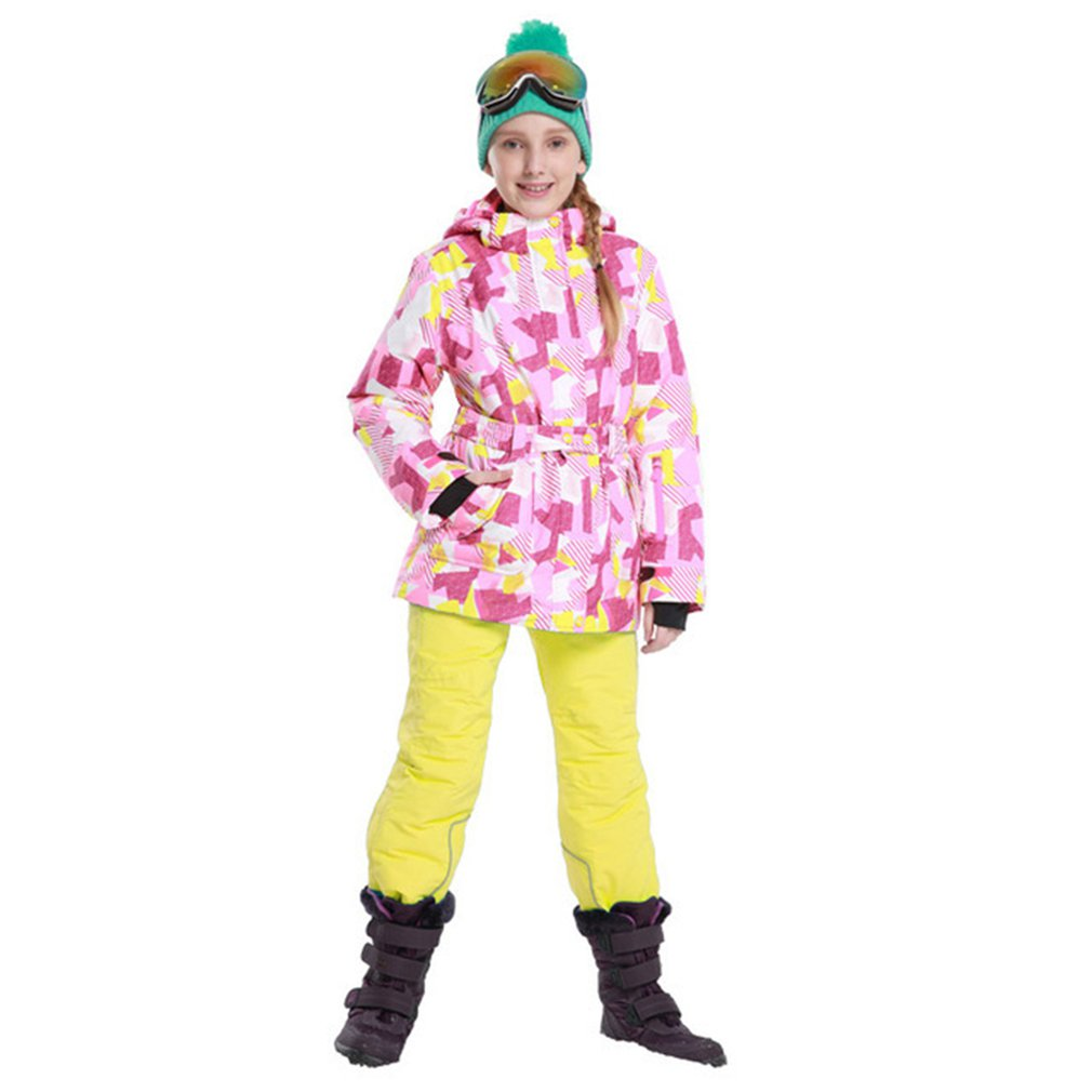 Safety Clothing Phibee Boys/girls Ski Suit Waterproof Pants+jacket Set Winter Sports Thickened Clothes Childrens Ski Suits 2019