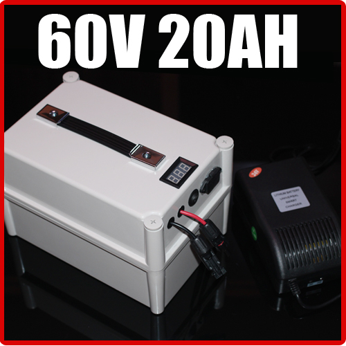 60 V 20AH LiFePO4 Batterie Portable Batterie, vélo électrique Scooter Pack 1500 W, étanche 60 v au lithium Livraison Gratuite