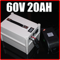 60V 20AH LiFePO4 Battery Portable Battery ,Electric bicycle Scooter Pack 1500W, waterproof 60v lithium Free Shipping
