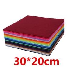 40 шт./лот 30*20 см Смешанные цвета войлочная ткань толщина 1 мм Нетканая ткань/полиэстер войлочные ткани ручной работы куклы и ремесла