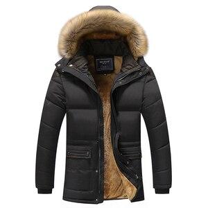 Image 2 - 2017 kış erkekler aşağı & Parkas pamuk yastıklı ceketler erkek rahat aşağı ceketler kalınlaşmak mont palto sıcak giyim büyük 5XL X579