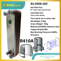 B3 50 30 brazed plate heat exchanger is the ideal choice for R410a water source chiller, heat pumps, economizers, desuperheaters