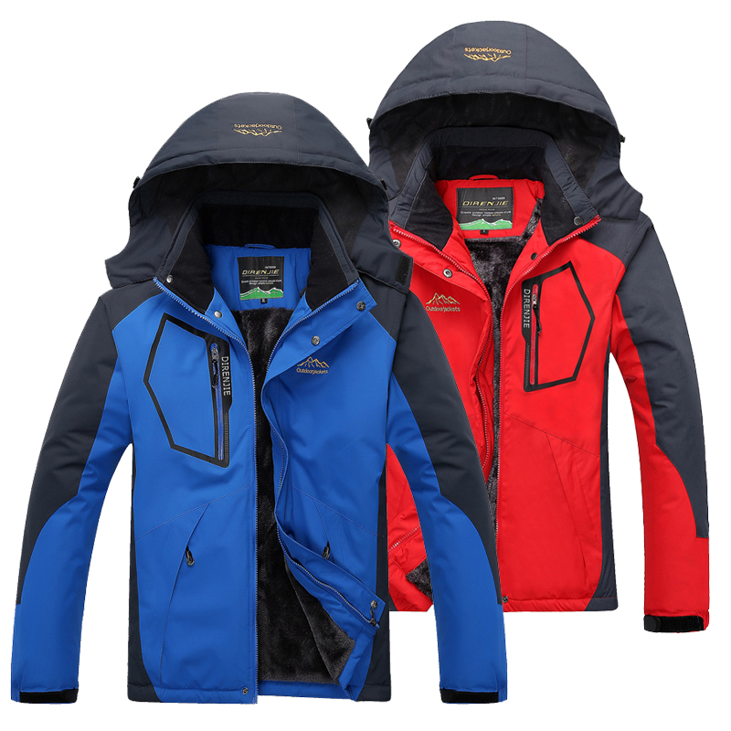 Autumn Winter Outdoor Men Camping Softshell Waterproof Windproof Jackets Climbing Trekking Hunting Ski Coat Women Sports Jackets